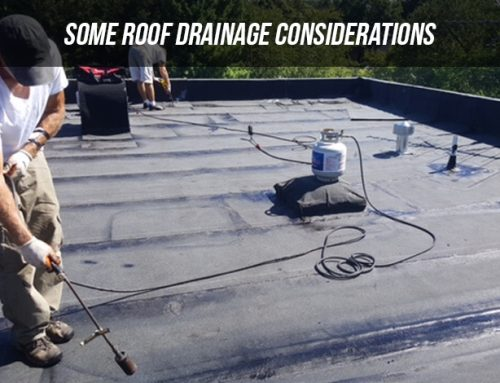 Some Roof Drainage Considerations